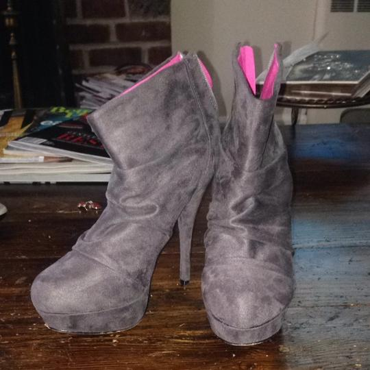 Privileged Grey, Pink Soles Boots