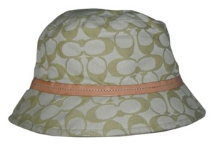 Coach COACH Bucket Logo Monogram Signature Rain Hat