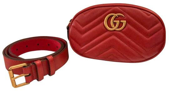 Preload https://img-static.tradesy.com/item/27601467/gucci-belt-marmont-gg-matelasse-leather-red-and-gold-cross-body-bag-0-1-540-540.jpg