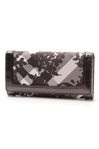 Burberry Burberry Floral Beat Check Wallet - Black/Gray