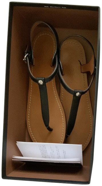 Coach Black Leila Leather Sandals Size US 8 Regular (M, B) Coach Black Leila Leather Sandals Size US 8 Regular (M, B) Image 1
