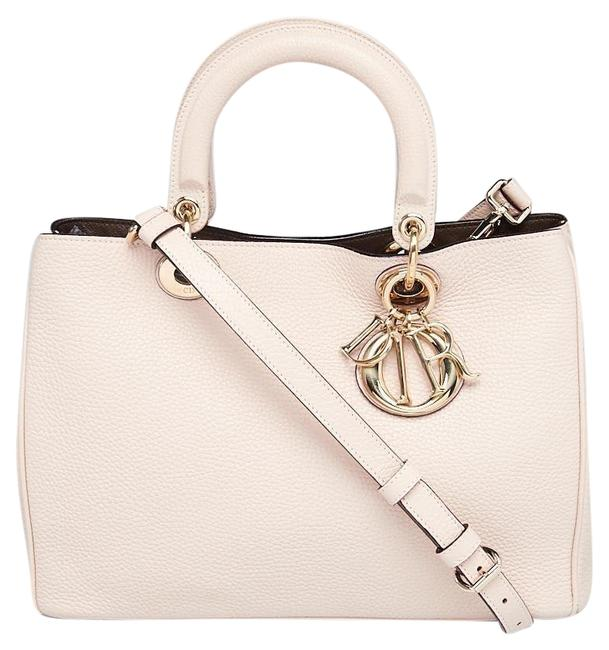 Item - issimo Medium Tote with Pouch Blush Lambskin Leather Cross Body Bag