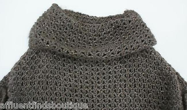 Escada Drape Neck Crochet Sweater