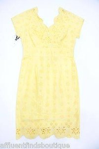 MILLY short dress Yellow Sun Eyelet Shift on Tradesy
