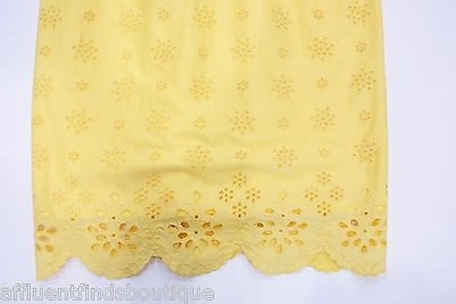 MILLY short dress Yellow Sun Eyelet Shift Style 87ss01692 on Tradesy