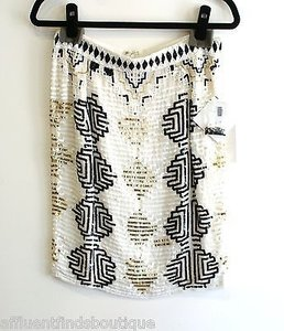 Other Mark James Badgley Mischka Sequin Skirt Ivory