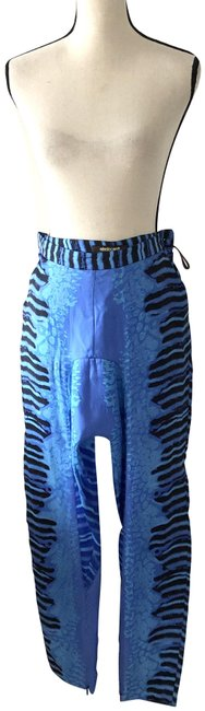 Item - Blue Zebra Print Silk Us Pants Size 8 (M, 29, 30)