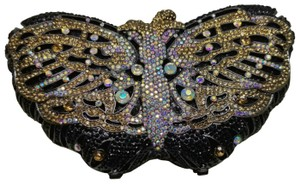 elle cross Austrian Crystal Crystal Monarch Purse Butterfly Hand Crafted Multiple color Clutch