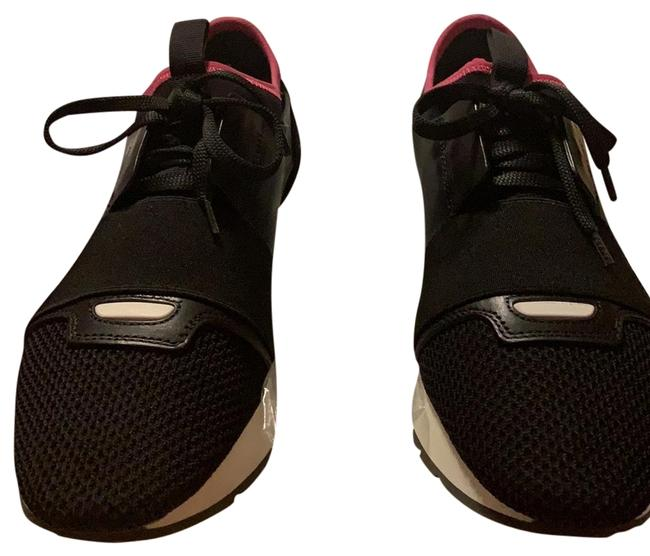 Item - Black with White Sole and Pink Strip Sneakers Size US 8 Regular (M, B)