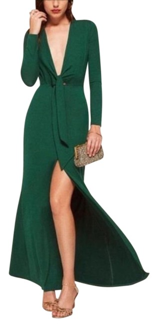 Item - Green Aria Long Night Out Dress Size 12 (L)