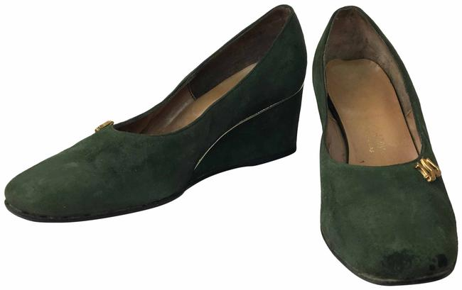 Item - Green 1940's Suede Wedges Size US 7 Regular (M, B)