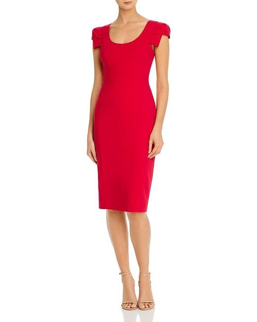 Item - Red Amelie Sheath Mid-length Cocktail Dress Size 6 (S)
