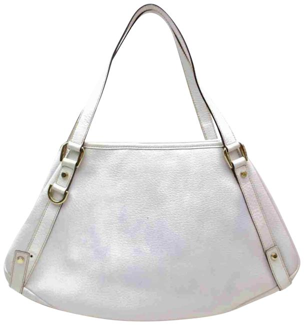 Item - Bag Abbey Hobo 872949 White Leather Tote