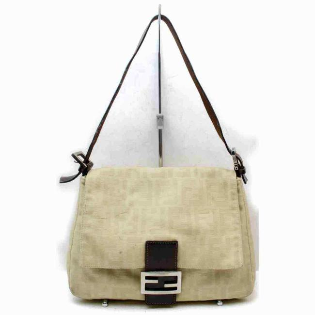 Item - Monogram Ff Zucca Mama Forever Flap 858951 Beige Canvas Shoulder Bag