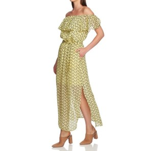 yellow & black Maxi Dress by 1.STATE