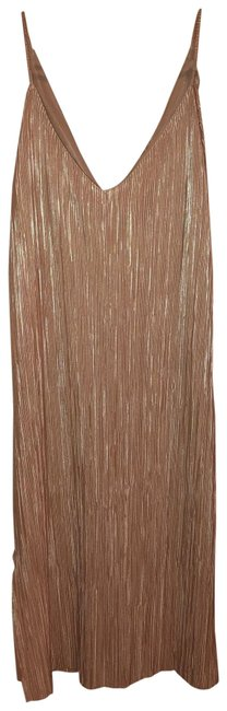 Item - Blush Shimmery Mid-length Night Out Dress Size 4 (S)