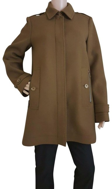 Item - Khaki Brown Brit Women's Elmsbys Wool Jacket ; Us Coat Size 10 (M)