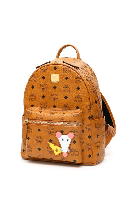 Item - Cr New Stark Visetos Chinese New Year Brown Canvas Backpack