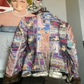 The People Of The Labyrinths Brown Blue Fur Trim Southwest Jacket Size 8 (M) The People Of The Labyrinths Brown Blue Fur Trim Southwest Jacket Size 8 (M) Image 7