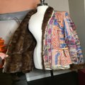 The People Of The Labyrinths Brown Blue Fur Trim Southwest Jacket Size 8 (M) The People Of The Labyrinths Brown Blue Fur Trim Southwest Jacket Size 8 (M) Image 8