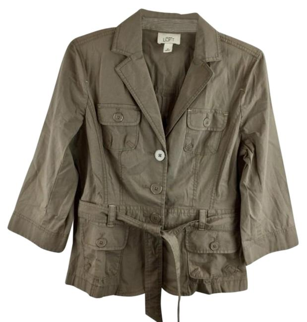 Item - Tan Button Down Long Sleeves Jacket Size 8 (M)