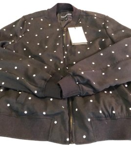 Who What Wear x Target black with white polka dots Jacket