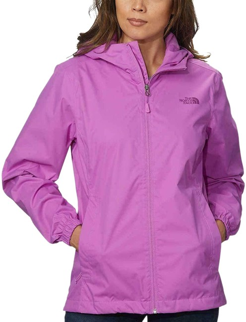 The North Face Violet Waterproof Quest Hooded Jacket Size 4 (S) The North Face Violet Waterproof Quest Hooded Jacket Size 4 (S) Image 1