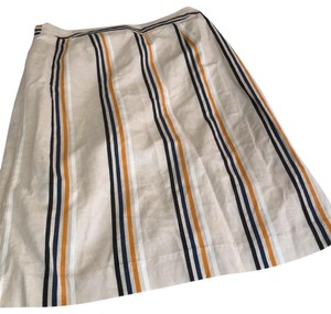 Who What Wear x Target Skirt beige with gold,navy,black and white vertical stripes