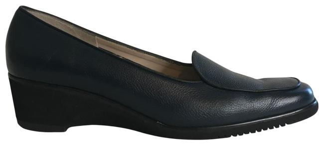 Item - Navy Loafer Wedges Size US 10 Narrow (Aa, N)