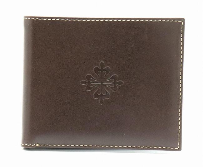Item - Dark Brown Two-fold Leather Wallet