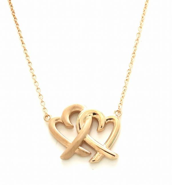 Item - Pink Gold Tiffany&co. Paloma Picasso Double Rubbing Heart Pendant 18k Necklace