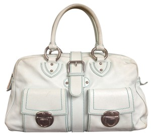 Marc Jacobs Leather Light Blue Satchel in Powder blue