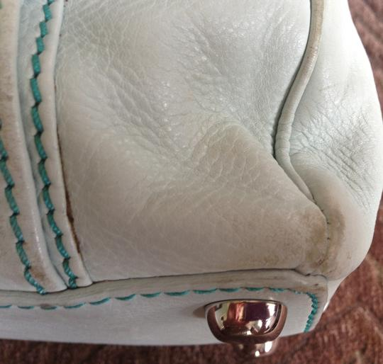 Marc Jacobs Leather Light Satchel in Powder blue