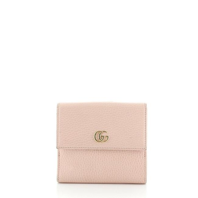 Item - Marmont Gg French Flap Wallet Compact Pink Leather Wristlet