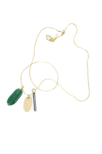 Item - Green Box Semi-precious Accents Long Pendant New With Necklace
