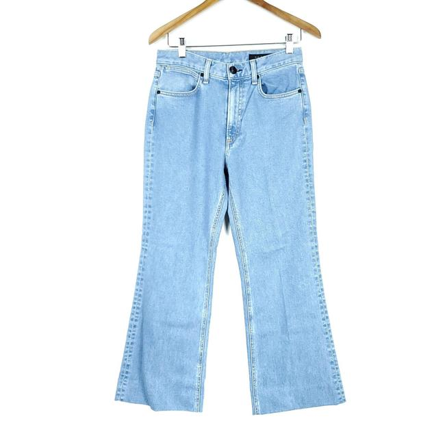 Item - Blue Medium Wash Broken Nelly Ankle Justine Boot Cut Jeans Size 27 (4, S)