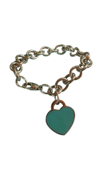 Item - Blue Please Return To Co Silver with Heart Bracelet