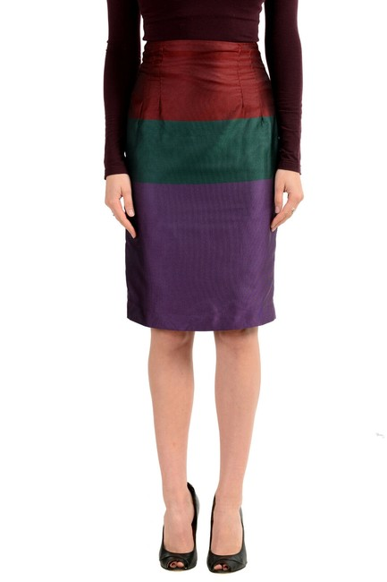 Item - Multi-color Gf Women's Striped Skirt Size 2 (XS, 26)