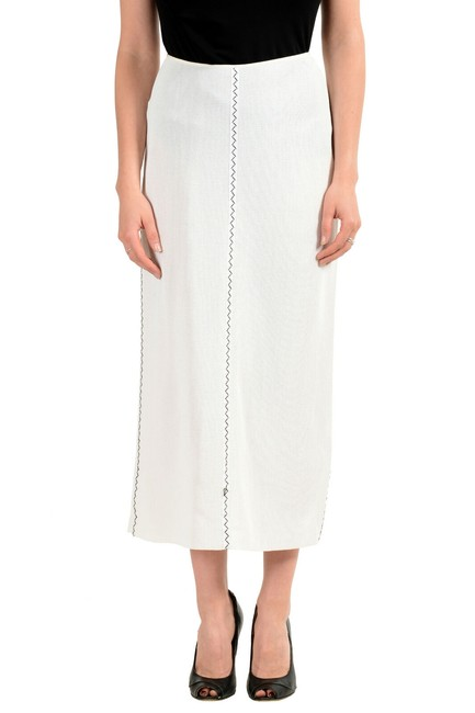 Item - Off White Women's See Through Pencil Skirt Size 12 (L, 32, 33)