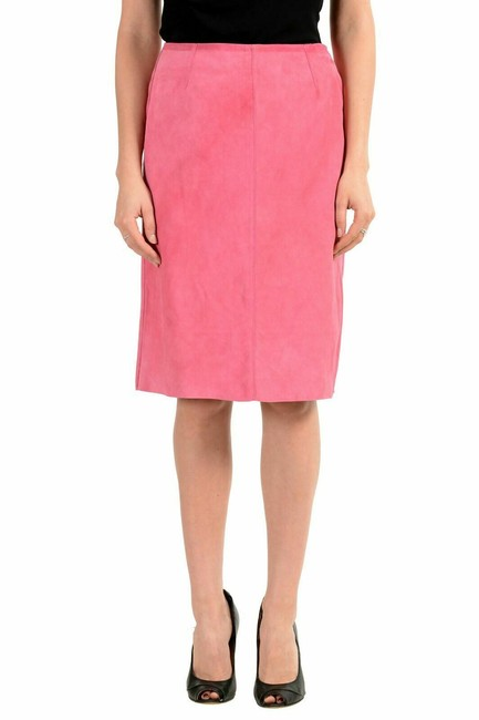 Item - Pink Dolce & Gabbana D&g Women's Suede Leather Pencil Skirt Size 2 (XS, 26)