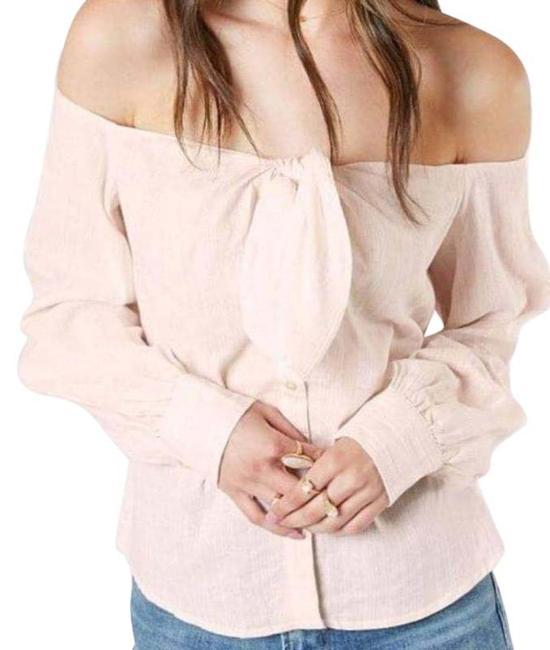 Item - Blush & White Hello There Button-down Top Size 6 (S)
