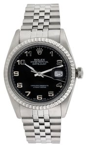 Rolex Rolex Datejust Stainless Steel Black Dial Men's Watch