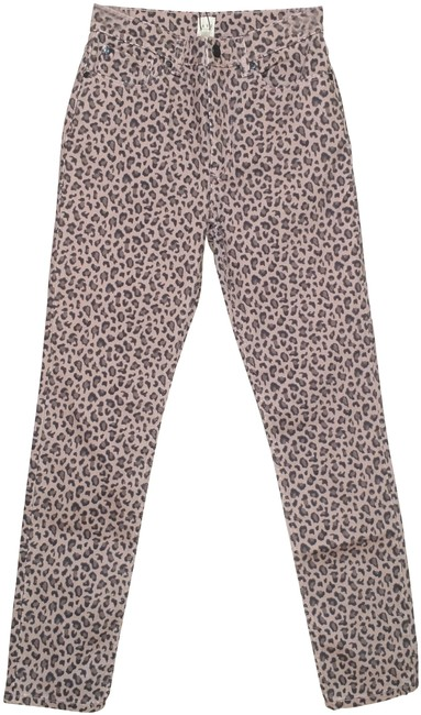 Item - Brown Ines Ocelot Tan Leopard Animal Print High Waisted Rise Skinny Jeans Size 25 (2, XS)