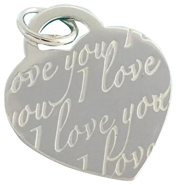 """Item - 1"""" T&co I Love You Notes Sterling Silver Pendant Charm"""
