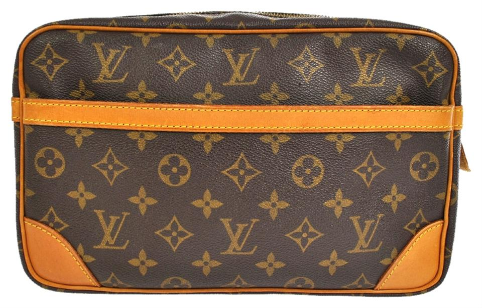 louis vuitton brown cosmetic bags 71 off louis vuitton accessories tradesy. Black Bedroom Furniture Sets. Home Design Ideas