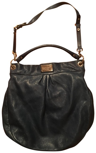Item - Classic Q Hillier Leather Blue Cowhide Hobo Bag