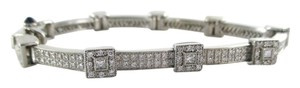 charriol CHARRIOL 18KT WHITE GOLD 200 DIAMONDS 2.50 CARAT BRACELET BANGLE PAVE 18 GRAMS