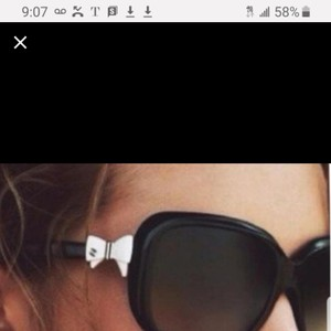 Chanel Chanel white bow sunglasses