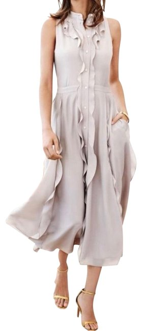 Item - Button Down Ruffle Flare Mid-length Short Casual Dress Size 6 (S)