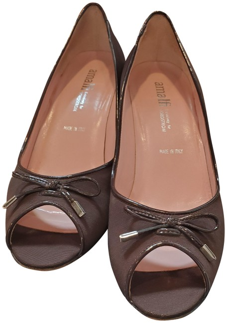 Item - Brown Peep Toe Pumps Size US 8.5 Regular (M, B)